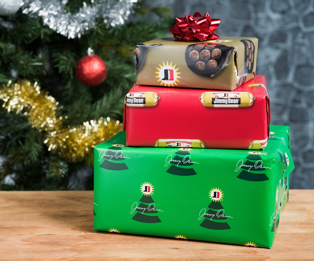 Photo of Jimmy Dean Just Created Sausage-Scented Christmas Wrapping Paper!