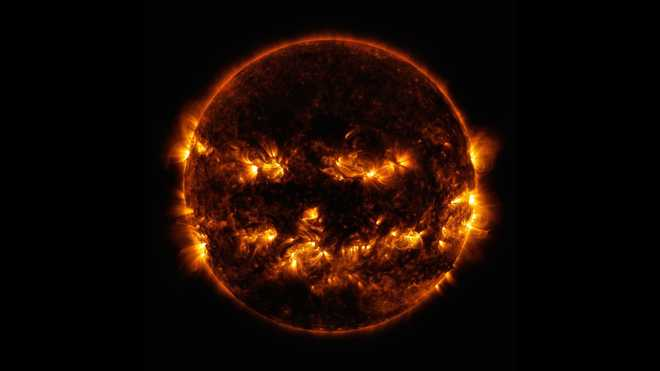 Photo of Looks like the Sun is ready for Halloween!