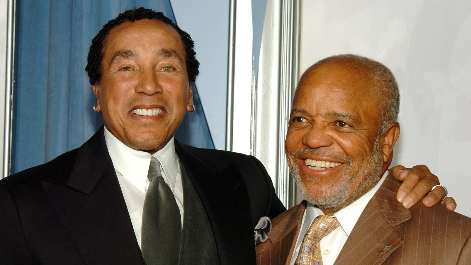 Photo of Motown legends Berry Gordy, Smokey Robinson honored at label's 60th anniversary gala