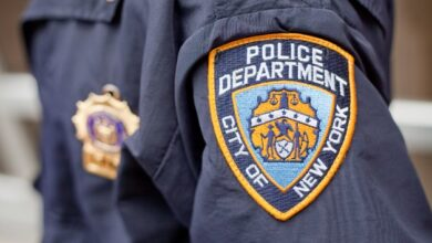 Photo of NYPD officer suspended after promoting Trump on police loudspeaker